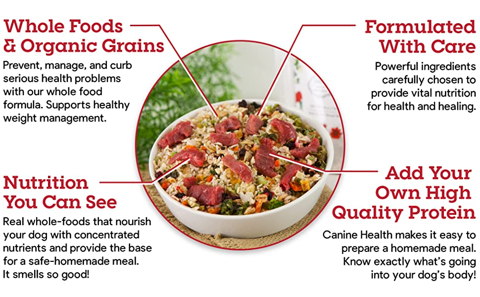 Dr. Harvey's Canine Health Miracle Dog Food Whole Foods Organic Grains Nutrition You Can See