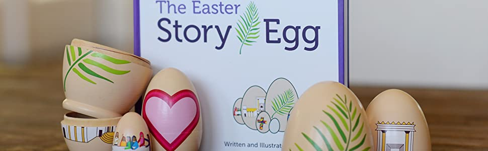 The Story Egg is the perfect catholic or Christian gift for Easter