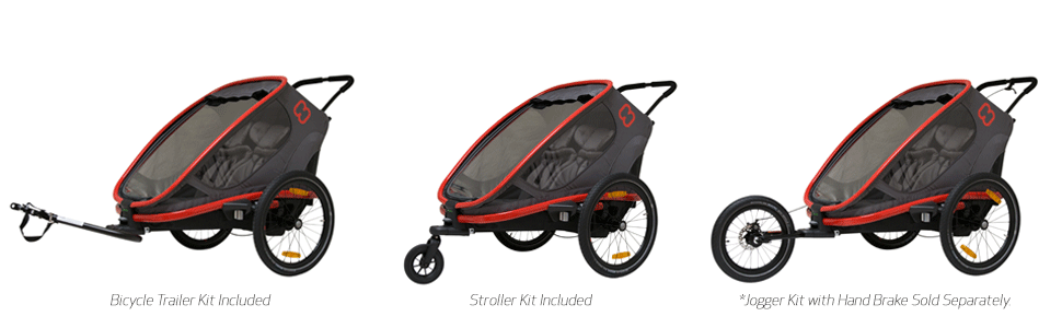 hamax hamaxusa outback stroller bike trailer jogger ski kit multi-sport multisport baby infant child - Hamax Outback Reclining Multi-Sport Child Bike Trailer + Stroller - 2020 Model (Jogger Wheel Sold Separately) (Navy/White, One Seat)