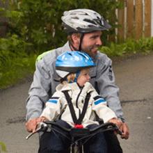 hamax hamaxusa child bike seat front helmet biking