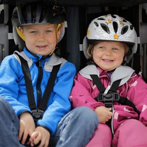 hamax hamaxusa outback trailer bike bicycle jogger stroller multi-sport multisport - Hamax Outback Reclining Multi-Sport Child Bike Trailer + Stroller - 2020 Model (Jogger Wheel Sold Separately) (Navy/White, One Seat)