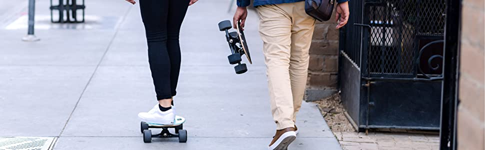 no more boring commute, healthy, urban lifestyle, on the go, portable, compact, skateboard, safe