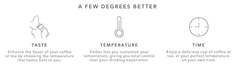Ember Temperature Control Ceramic Mug, White - CM17 13