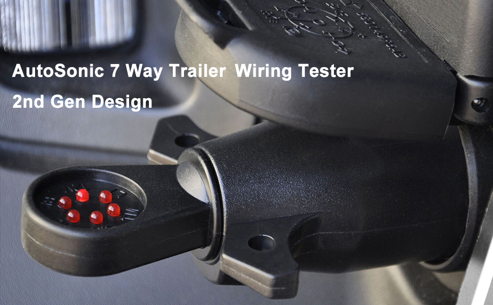 7 way trailer rv blade connector circuit tester, towing wiring, trailer  hitch wiring tester