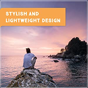 "Man wearing Trailhead Adventure Pants & watching the sunset, ""stylish and lightweight design"""