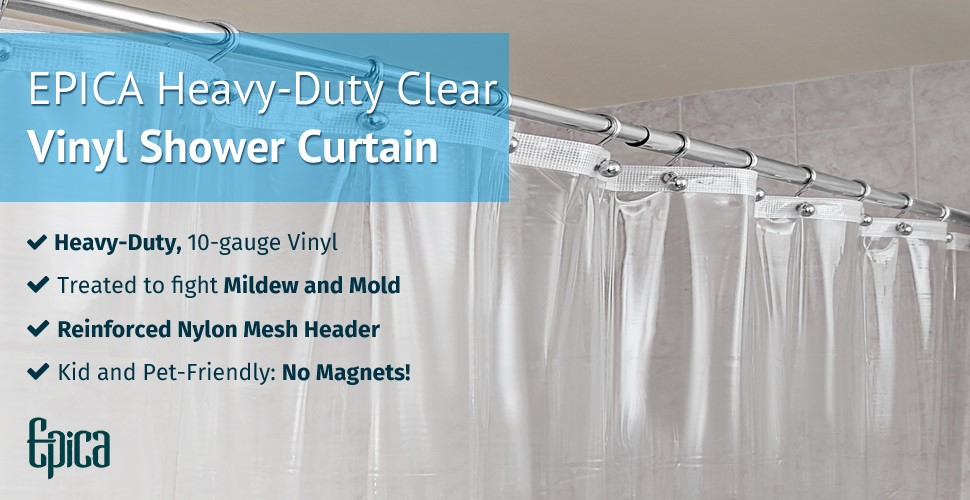 Amazon.com: Epica Strongest Mildew Resistant Shower Curtain Liner on ...