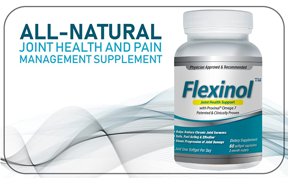 Flexinol: Joint Health Support - 60 Count - Made with Provinal, All-Natural  Omega 7 Fatty Acid -