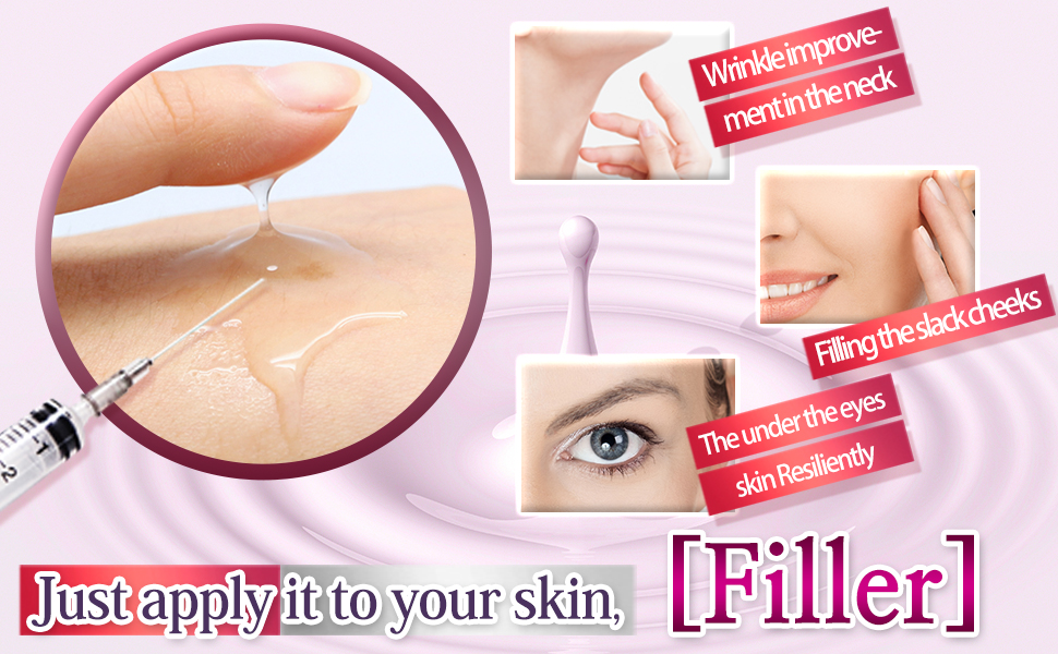 Just apply it to your skin, filler