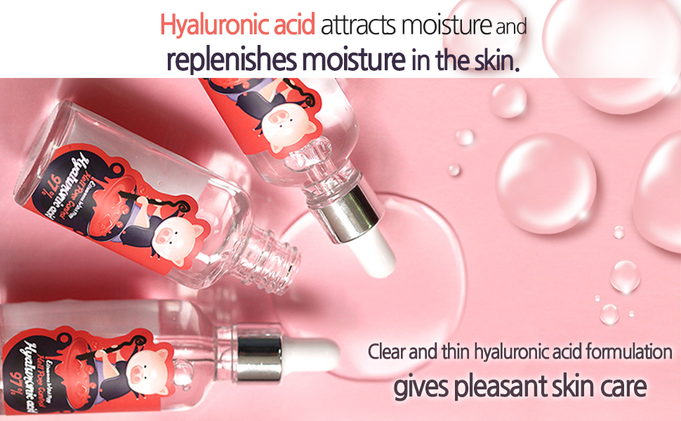 Hyaluronic acid attracts moisture