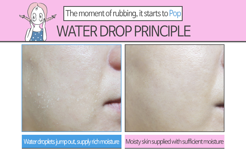 water drop cream