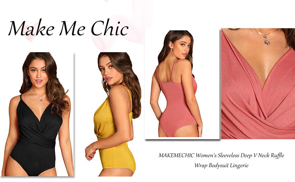 Womens Cami Strap Wrap Cut Out Sleeveless Bodysuit Plunge V Neck Cross Back