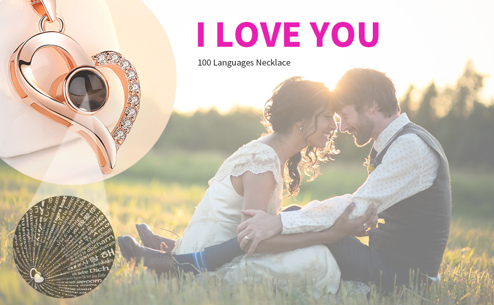 100 languages i love you necklace