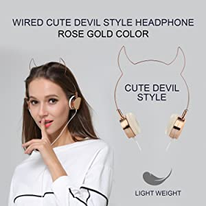 Amazon.com: SOMOTOR Wired Headphone, Cool Devil Ox Ear