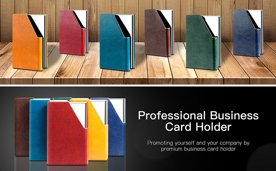 Amazon.com: Estuche para tarjetas de presentación, de lujo ...