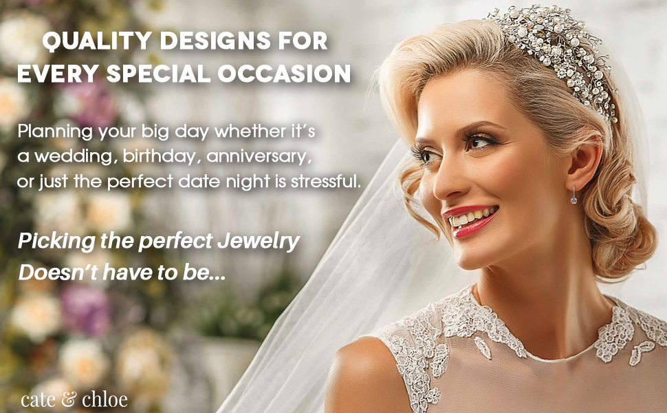 Special occasion jewelry for weddings, bridal parties, baby shower, parties, date night, anniversary