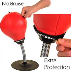 Free Standing Desktop Punching Bag by CozyBomB - Stress Buster Relief with Stand - Boxing Punch Bal