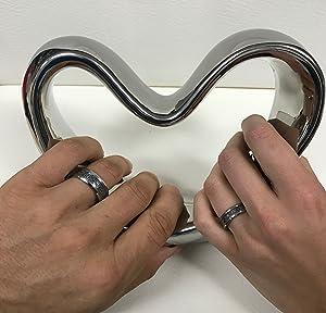 Amazon.com: His & Her's 8MM/6MM Tungsten Carbide Celtic