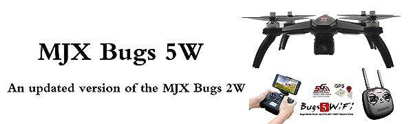 MJX B5W Bugs 5W Wifi FPV with 1080P Camera Brushless Motors GPS Follow ME RC Quadcopter RTF