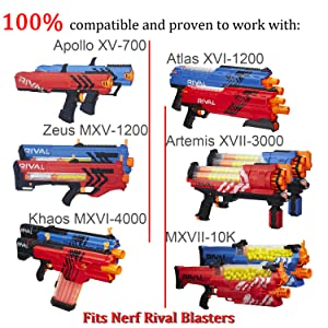 Why Choose EKIND RIVAL AMMO? Fits Nerf Rival Blasters