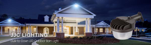 JJC Security Lights Dusk to Dawn Outdoor LED Barn Light Area Lighting Photocell 40W 4800lm 3000K-Warm White,DLC/&ETL-Listed for Yard Porch Garage Garden 300W Equiv.