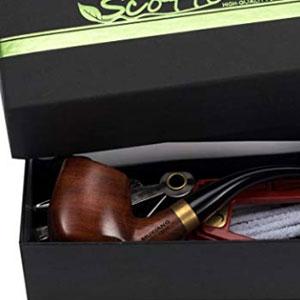 Tobacco Pipe Handmade Pear Wood Bent Smoking Pipe Gift Box