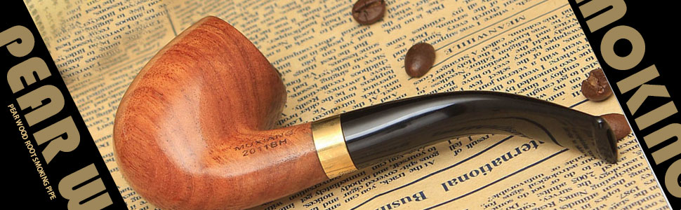 Handmade Pear Wood Bent Smoking Pipe