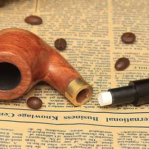 Pear Wood Bent Tobacco Pipe