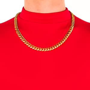 Lifetime Jewelry Cuban Link Chain 11mm Round 24k Gold