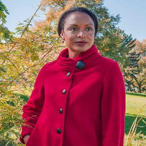 6ff394ff809b6 Janska Audrey - Women s Warm Fleece Button-Up Swing Coat with High ...