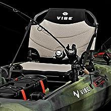 Framed Kayak Seat, Integrated Gear Tracks, Comfort Grip Kayak Handles, Center Console Storage