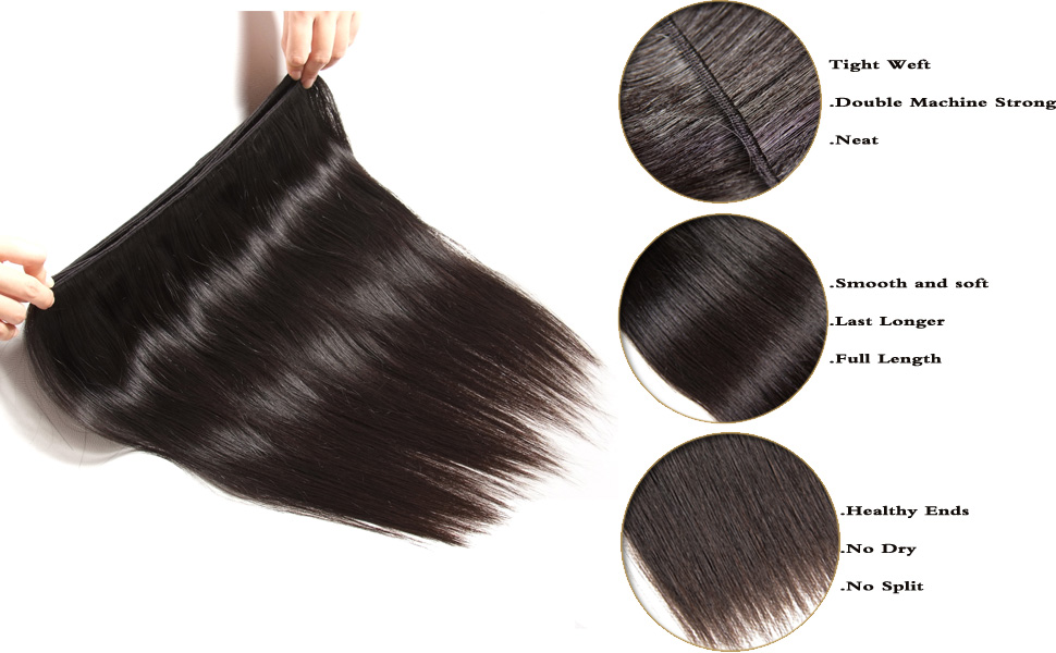 Amazon Jolia Hair Malaysian Virgin Hair Straight Human Hair 3