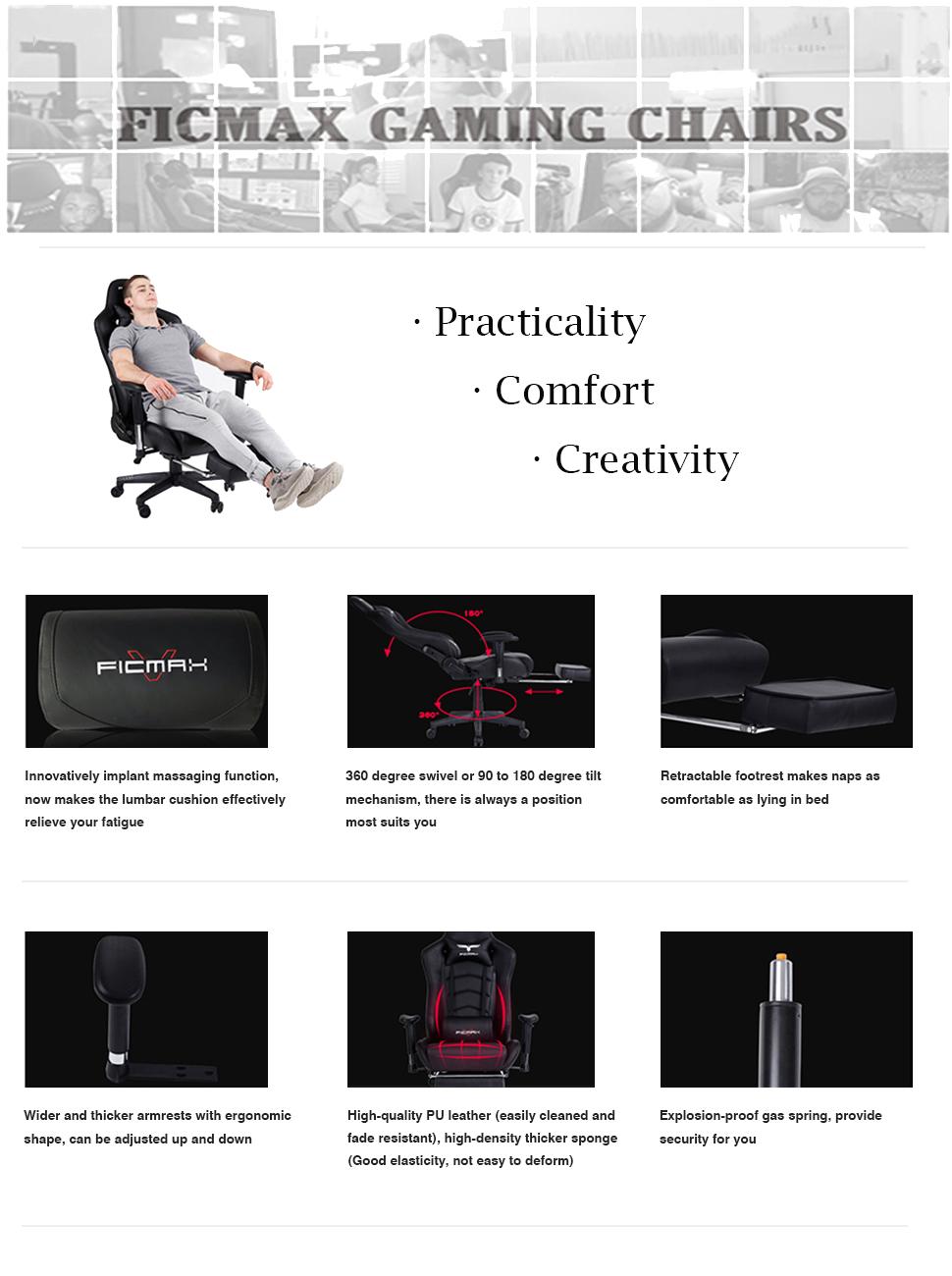 Amazon Com Ficmax High Back Large Size Desk Chair Swivel