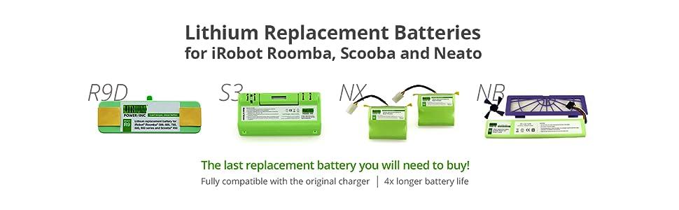 Amazon.com: Batería de repuesto de litio para iRobot Roomba ...