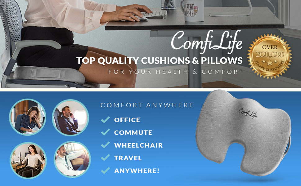 Amazon Com Comfilife Premium Comfort Seat Cushion Non