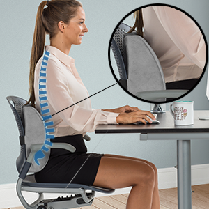 ComfiLife Lumbar Support Back Pillow Is Ergonomically Designed To Provide  All Day Support To Help Relieve Lower Back Pain From Sitting And Promote  Good ...