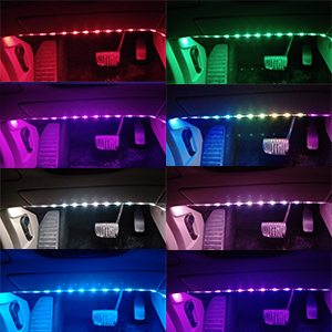 rainbow car led strip light rainbow color music interior led lights for cars. Black Bedroom Furniture Sets. Home Design Ideas