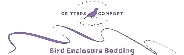 Safe, all natural coconut fiber bedding material enclosure floor liner for pet birds