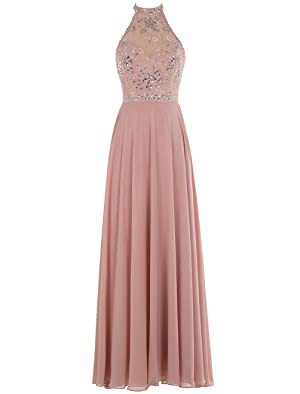 Bbonlinedress Long Prom Dresses Chiffon Beaded Jewel Evening Party Gowns