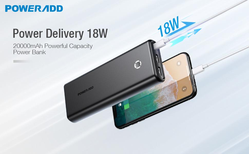 Amazon.com: POWERADD EnergyCell 20000 Cargador Portátil con ...