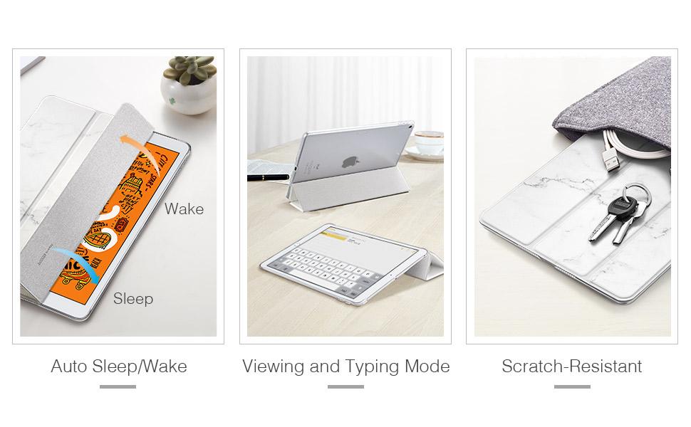Ipad Mini 5 2019 Marble Trifold Case Esr