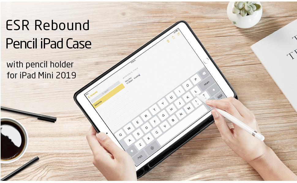 ipad mini 5 case with pencil holder