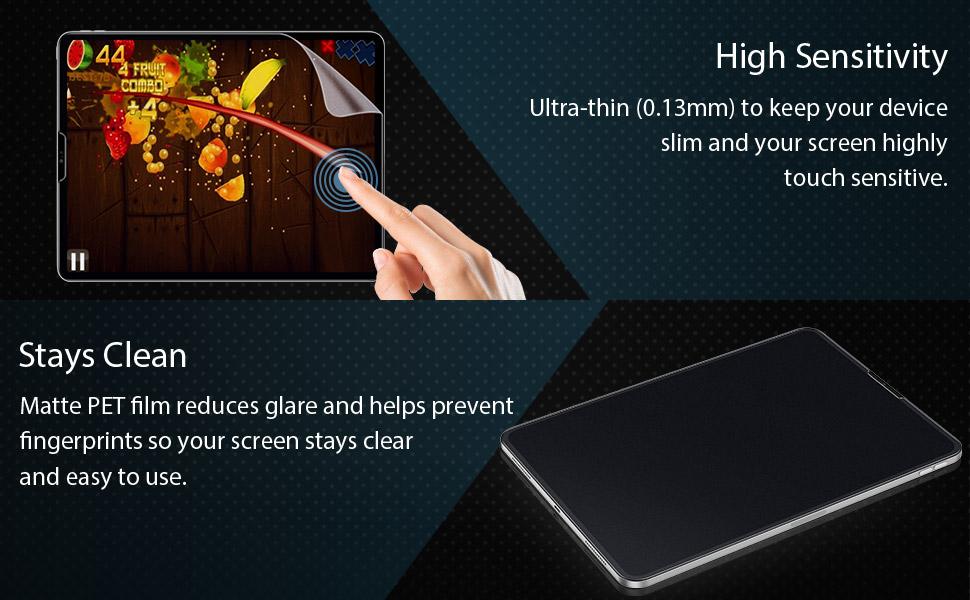 ESR Matte Screen Protector for iPad Pro 11 2018, High Sensitivity, Apple Pencil Compatible,