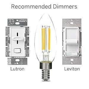 Dimmable Led Candelabra Light Bulbs 4 Watt 2700k
