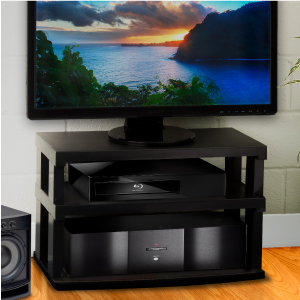 tv entertainment center stand 360 degree 2 tier