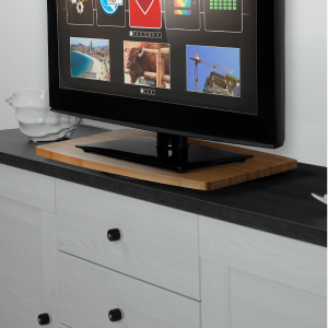 360 tv swivel stand bamboo rotating stand