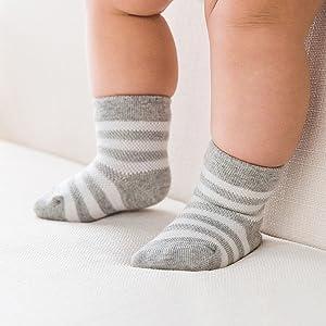 baby grey socks