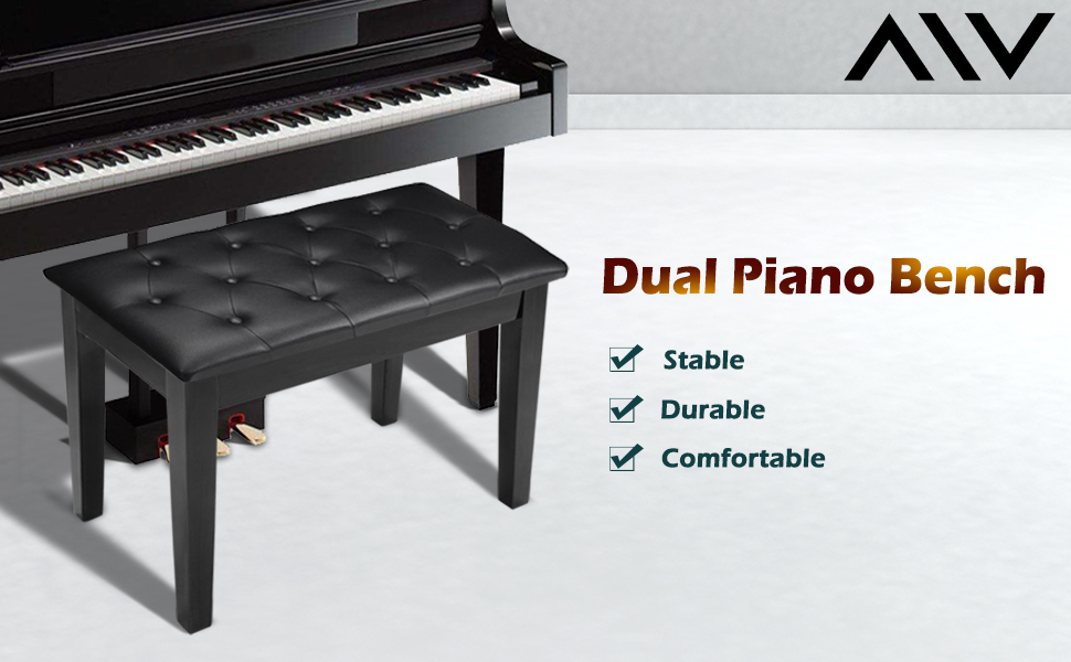 This Duet Piano Serves Excellently As Piano Bench, Keyboard Bench As Well  As Vanity Stool, Which Features In Comfort, Durability And Simplicity.