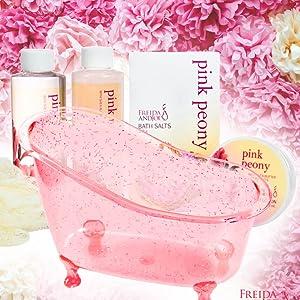 natural organic gift basket spa soak bath bombs body butter scrub