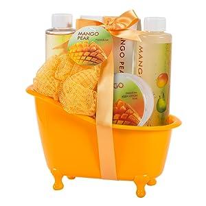 bath tub gift basket stocking stuffer gifts sets set spa womens women lush body shop shower gel bomb