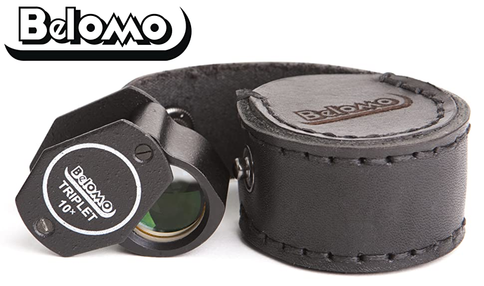 Amazon.com: BelOMO 10x Triplet Loupe Magnifier with LEATHER ...